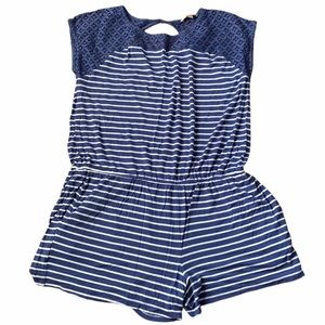 Skies are Blue Romper with Lace Detail L